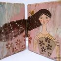 Adrienn  AKCIOS!, LEARAZVA  egyedi, kezzel festett rusztikus fa deko...