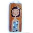 Emily AKCIOS!, Dekoráció, Otthon, lakberendezés, Képzőművészet, Falikép, AKCIOS ARON!  egyedi rusztikus fa dekoracio. falra akaszthato. kb. 8x18.5 cm + akaszto. ajanlottan p..., Meska