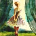 A kis balerina, Dekoráció, Képzőművészet, Otthon, lakberendezés, Illusztráció, Kis peldanyszamu nyomat. Dedikalva A4-es, kituno minosegu papiron.   ajanlottan postazom.  A postakö..., Meska