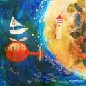 A sziget, Dekoráció, Képzőművészet, Otthon, lakberendezés, Illusztráció, Kis peldanyszamu nyomat. Dedikalva A4-es, kituno minosegu papiron.   ajanlottan postazom.  A postakö..., Meska