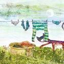Laundry , Dekoráció, Képzőművészet, Otthon, lakberendezés, Illusztráció, Kis peldanyszamu nyomat. Dedikalva A4-es, kituno minosegu papiron.   ajanlottan postazom.  A postakö..., Meska