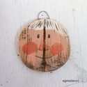 Nagyi , egyedi, kezzel festett, rusztikus fa dekoracio. fa...