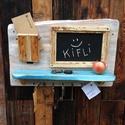 Üzenőtábla, Kb 65 x 45 cm -es , ujrahasznositott faanyagbol ke...