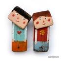 Nagy a szerelem, 2db. egyedi rusztikus fa fogas/akaszto. kulcsoknak...