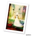 A fehér ruha AKCIOS!, Dekoráció, Képzőművészet, Otthon, lakberendezés, Illusztráció, Polcseprest tartok, ezert ez az illusztraciom most akciosan megvasarolhato!  Kis peldanyszamu nyomat..., Meska