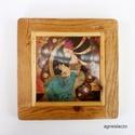 Elizabeta , Dekoráció, Képzőművészet, Otthon, lakberendezés, Kép, Sajat illusztraciom , egyedi rusztikus keretben. kb 23 x 23 cm , kerettel.  ajanlottan postazom. 10 ..., Meska