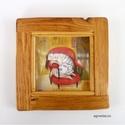 Szunya , Dekoráció, Képzőművészet, Otthon, lakberendezés, Kép, Sajat illusztraciom , egyedi rusztikus keretben. kb 20 x 20 cm , kerettel.  ajanlottan postazom. 10 ..., Meska