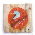 Tavasz, Dekoráció, Otthon, lakberendezés, Dísz, Falikép, egyedi, kezzel festett, rusztikus fa dekoracio. falra akaszthato. kb. 30 x 30 cm.  ajanlottan postaz..., Meska