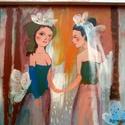 Agnes , Otthon, lakberendezés, Képzőművészet, Falikép, Festmény, Eredeti acrylic festmenyem, rusztikus keretben. Dedikalva Kepmeret ( kerettel ) kb 30  x 30 cm. Hatu..., Meska