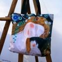 """Mintha Klimt lenne, Ruha, divat, cipő, Táska, Szatyor, Válltáska, oldaltáska,  Egyedi """"bevasarlo"""" taska, vagy strandtaska.   Anyaga - konnyu oxford 100% polyester Moshato.  Meret..., Meska"""
