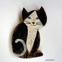 Ez az én macskám !, Dekoráció, Otthon, lakberendezés, Baba-mama-gyerek, Dísz, egyedi, rusztikus fa dekoracio. kb. 20  x 14 cm. kb 2 cm vastag  ajanlottan postazom., Meska