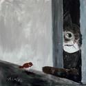 """Ajjajj ! , Otthon, lakberendezés, Képzőművészet, Falikép, Festmény, Eredeti acrylic festmenyem. """"butorlapra"""" festve  Kepmeret : 50 x 50 cm. Keret nelkul,  akaszto nelku..., Meska"""