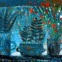 Téli ablak, Otthon, lakberendezés, Képzőművészet, Falikép,  Kis peldanyszamban nyomtatott reprodukcio. Meret- A4.  10 ezer forint feletti vasarlas eseten a pos..., Meska