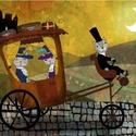 Úton-útfélen, Dekoráció, Képzőművészet, Kép, Illusztráció, Kis peldanyszamban nyomtatott reprodukcio. Meret- A4.  10 ezer forint feletti vasarlas eseten a post..., Meska