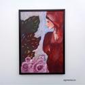 Gondolatok, Otthon, lakberendezés, Képzőművészet, Napi festmény, kép, Falikép, Eredeti festmenyem keretben. Akrilikkal festve.    Meret kerettel : A4 ( 21 x 30 cm)  ajanlottan pos..., Meska