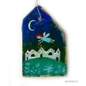 Angyali áldás 2 , Dekoráció, Otthon, lakberendezés, Karácsonyi, adventi apróságok, Dísz, Ünnepi dekoráció, egyedi, rusztikus fa dekoracio. kb. 9.5  x 15 cm. kb 1.5 cm vastag  ajanlottan postazom. A postakölt..., Meska