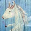 Póni lovacska balerina , Otthon, lakberendezés, Képzőművészet, Festmény, Falikép, Egyedi, sajat festmenyem, ami akrilikkal keszult, rusztikus fara.   kb 60 x 110 cm.  ajanlottan post..., Meska