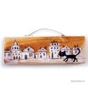 Macska az úton, Dekoráció, Otthon, lakberendezés, Képzőművészet, Dísz, egyedi, rusztikus fa dekoracio. kb.  6.5 x 19.5 cm. ajanlottan postazom.  A postaköltséget mi álljuk..., Meska