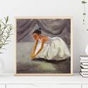 Balerina AKCIOS !, Otthon, lakberendezés, Képzőművészet, Napi festmény, kép, Falikép, Festészet, Fotó, grafika, rajz, illusztráció, MOST AKCIOS !  Eredeti akrilik festmenyem. Kemeny kartonra festve. Kepmeret : kb 20 x 20 cm. A szin..., Meska