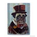 Mr. Bull , Otthon, lakberendezés, Képzőművészet, Falikép, Festmény,   Rusztikus fara festett acrylic festmeny.  falra akaszthato.  kb. 19 x 27 cm.   ajanlottan postazom..., Meska