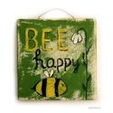 Bee happy ! , Dekoráció, Otthon, lakberendezés, Képzőművészet, Dísz, egyedi rusztikus fa dekoracio. kb. 15 x 14.5 cm   ajanlottan postazom.   A postakoltseget mi alljuk., Meska