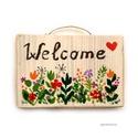 Welcome !, Dekoráció, Otthon, lakberendezés, Dísz, Falikép, egyedi, rusztikus fa dekoracio. kb. 15  x 10 cm.  ajanlottan postazom. A postaköltséget mi álljuk!..., Meska