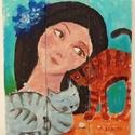 Hízelgő AKCIOS !, Dekoráció, Képzőművészet, Otthon, lakberendezés, Napi festmény, kép, AKCIOS ARON ELVIHETO JUNIUS 5.-ig !  Ingyenes postaval.   Egyedi akrilik festmenyem rusztikus fara f..., Meska