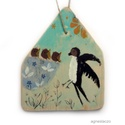 Fecske madarak, INGYENES POSTA  Egyedi, rusztikus fa dekoracio. kb...