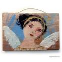 Mariann angyal , INGYENES POSTA !  Egyedi, rusztikus fa dekoracio. ...