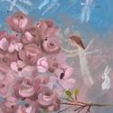 Angyalszárny, Otthon & lakás, Lakberendezés, Képzőművészet, Festmény, INGYENES POSTA !  Eredeti akrilik festmenyem, faroston.  Meret : kb 27 x 36.5  cm.  A szinek elterhe..., Meska
