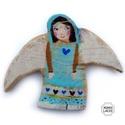 Legbájosabb angyal, Ingyenes posta  Egyedi, rusztikus fa dekoracio. kb...