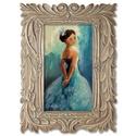 Kék báli ruha, INGYENES POSTA  Eredeti akrilik festmenyem, farost...