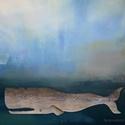 AKCIOS ! Cethal , Otthon & lakás, Dekoráció, Lakberendezés, Dísz, INGYENES POSTA ! Egyedi, rusztikus festett fa dekoracio. falra akaszthato. kb 115 x 30 cm.  A szinek..., Meska