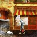 Boulangerie , Otthon & lakás, Dekoráció, Képzőművészet, INGYENES POSTA !  Sajat grafikamrol keszult nyomat. Most ujra kaphato. Meret : A4. Barmilyen szabvan..., Meska
