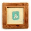 Kiskarácsony, Otthon & lakás, Karácsony, Lakberendezés, Falikép, INGYENES POSTA  Eredeti festmenyem rusztikus keretben. Akrilikkal festve.  A szinek elterhetnek a mo..., Meska