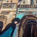 Katyusa kutyusa, Otthon & lakás, Képzőművészet, Festmény, INGYENES POSTA !  Eredeti akrilik festmenyem, faroston. Meret : kb 24  x 31 cm. A szinek elterhetnek..., Meska