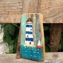 Világítótorony, INGYENES POSTA   Egyedi rusztikus fa dekoracio, fa...