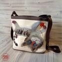 Pajkos macska táska, Ingyenes posta !  Oldaltaska, valltaska, sajat raj...