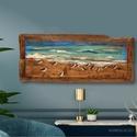 Gázlómadarak, Rusztikus fa dekoracio. falra akaszthato. A szinek...