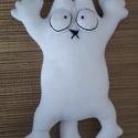 Simon's Cat, Dekoráció, Otthon, lakberendezés, Varrás, A rajzfilmben szereplő Simon macskája,polárból. Magassága:40cm Szélessége:24cm Igény szerint más sz..., Meska