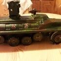 Fatank: Félhernyótalpas rakétavető (Panzerwerfer auf sWS), Játék, Fajáték, Famegmunkálás, Egyedi készítésű, méretarányos, valósághű, strapabíró fajármű: félhernyótalpas nehéz teherautóra te..., Meska