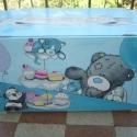 Teddy Maci egyedi, kézzel festett tároló, Baba-mama-gyerek, Otthon, lakberendezés, Gyerekszoba, Tárolóeszköz - gyerekszobába, Festett tárgyak, Famegmunkálás, Egyedi, fából készült, teljes kézi festésű gyerekszobai tároló! Különlegessége más hasonló termékek..., Meska