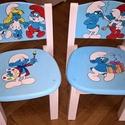 Kézzel festett, gyerek szék, Otthon & Lakás, Szék & Fotel, Bútor, Famegmunkálás, Festett tárgyak, 29CM ülésmagasságú egyedi ,masszív tömör fa szék gyerekeknek 1-8 éves korig. Ergonómikus kialakítás..., Meska
