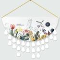 Virágos családi eseménynaptár, Otthon & Lakás, Falinaptár & Öröknaptár, Dekoráció, Fotó, grafika, rajz, illusztráció, Festett tárgyak, Ünnepi naptáraim nem csak kellemes dekorációs elemei lehetnek a lakásnak, hanem segít abban, hogy k..., Meska