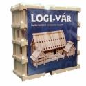 1 cs. LOGI-VÁR fajáték (86 elem), Baba-mama-gyerek, Játék, Fajáték, Társasjáték, Famegmunkálás, Mindenmás, LOGI-VÁR Logikai Várépítő Játék termékismertető.  A fa építőjáték egyedi tulajdonsága hogy mindössz..., Meska