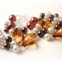 vaníliás négercsók - karácsonyi ajándék nyaklánc, Ékszer, Ékszerszett, Nyaklánc, amiből készült: -akril gyöngy -tekla gyöngy -üveg gyöngy -ezüst színű pálca  hossza: kb. ..., Meska