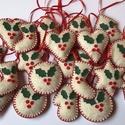 Filc karácsonyfadíszek /szett: 30 db/, Dekoráció, Ünnepi dekoráció, Karácsonyi, adventi apróságok, Karácsonyfadísz, FILC KARÁCSONYFADÍSZEK  Egyedi kézzel készült filc karácsonyfadíszek fagyöngy mintával elad..., Meska