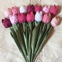 Textil tulipán /szett: 14 db/ ingyen ajándékkísérővel, Otthon, lakberendezés, Asztaldísz, Egyedi textil TULIPÁNOK eladók.   A csokor 14 szál tulipánt tartalmaz:  - rózsaszín  - fehér  - bord..., Meska