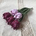 Tulipán /szett: 5 db/ ingyen ajándékkísérővel, Dekoráció, Csokor, Egyedi textil TULIPÁNOK eladók.   A csokor 5 szál tulipánt tartalmaz: - 2 rózsaszín virágos - 3 bord..., Meska