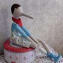 Tilda pinocchió, Játék, Játékfigura, Baba-és bábkészítés, Tilda szabásminta alapján készült figura.Magassága 50 cm., Meska